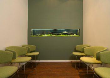 Wartebereich mit Aquarium