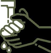 Hände waschen, Hygienenempfehlungen Physiotherapie Smit